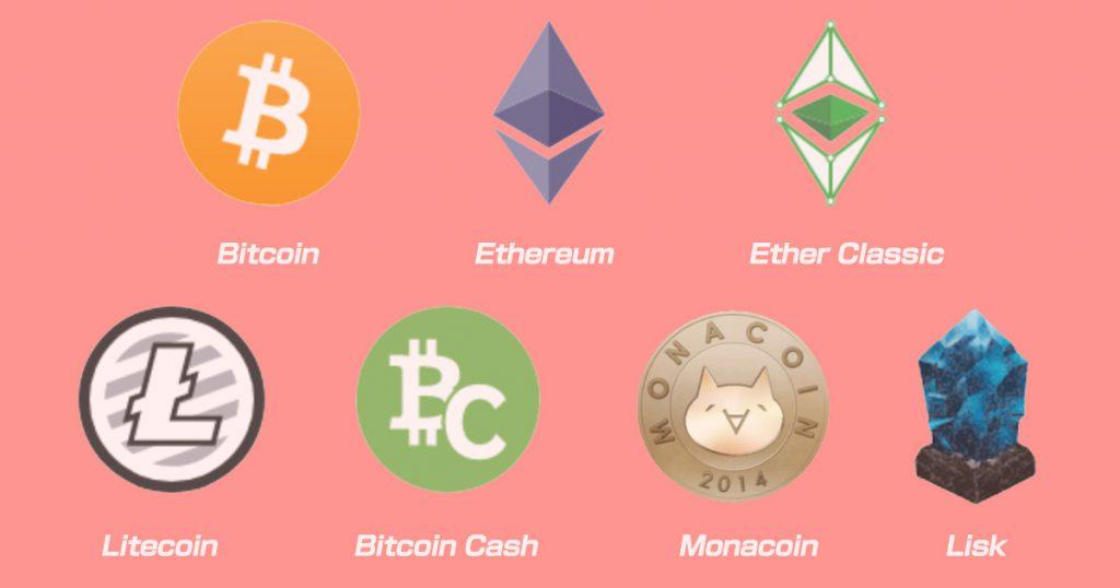 bitFlyer取り扱い通貨